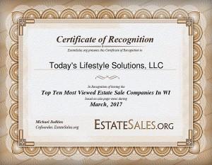EstateSales.org Recognition
